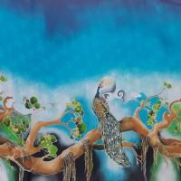 Sudiyanto - 3). Batik tulis motif burung merak di Kota Batam