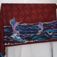 Sudiyanto - 7). Batik tulis kombinasi motif ikan marlin di Kota Batam