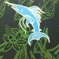 Sudiyanto - 9). Batik cap motif ikan marlin dan gonggong di Kota Batam