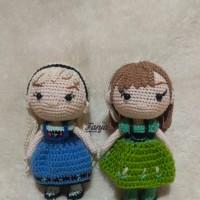 Melina Dewi R - 1). Boneka Rajut Frozen Anna & Elsa Handmade di Kota Batam