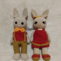Melina Dewi R - 3). Boneka Rajut Bunny Couple Handmade di Kota Batam