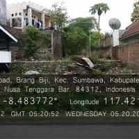 Sebidang tanah luas 579 m2 berikut bangunan SHM No.1436 terletak di Kel. Brang Biji, Kec.Sumbawa, Kab.Sumbawa, Prov.NTB