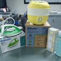 Lelang Sukarela : 1 (satu) Paket Peralatan Rumah Tangga terdiri dr Rice Cook MYK mini, Setrika Philips dan Termos SST Red di Kota Gorontalo