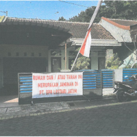 BPR Lestari Jatim - 1 bidang tanah dengan total luas 120 m2 berikut bangunan di Kabupaten Malang
