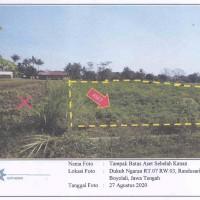 BPR YIS - Sebidang tanah sawah/Pekarangan sesuai SHM 03388, Luas 3650 m2 di Desa Randusari, Kec. Teras, Kab. Boyolal