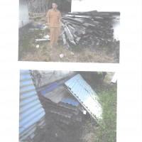 (Kanwil Kemenag Prop Sumbar) 1 (satu) Paket Sisa hasil bongkaran bangunan gedung berupa seng gelombang dan kayu dengan kondisi rusak berat.
