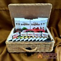 1 (satu) Keranjang Paket Cokelat Sagena Plus Tempat Rotan ( 008) di Kota Palu ( Banua Coklat Hasnidar H) Lot 8