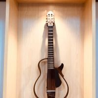 HORI: Lelang Charity Barang Preloved - Silent Guitar merk Yamaha SLG 200N warna Translucent Black