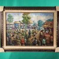 HORI: Lelang Charity Barang Preloved - Lukisan Pasar Tradisional ukuran 53x75