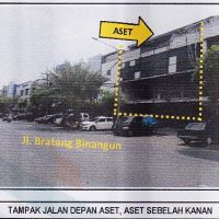 3 bidang tanah SHGB No.319,328&341, total luas 198 m2 berikut bangunan diatasnya, terletak di Kel.Baratajaya, Kec.Gubeng, Surabaya