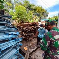 1 (satu) Paket Material Sisa Bongkaran Bangunan Mess / Wisma Lembeh di Kota Manado