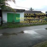 1 bidang tanah dengan total luas 402 m2 berikut bangunan di Kota Kendari