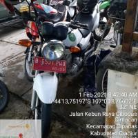 Sepeda Motor Suzuki EN125HK nopol B 6531 PWQ tahun 2013 di Kabupaten Cianjur