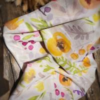 Ninano.label (Lot 10) Sebuah Hijab Printing Watercolor warna Broken White Bahan Voal Ultrafine Size 115x115 cm Pinggiran Laser Cut Eksklusif