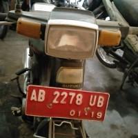 BKAD Bantul 1.12 : 1 unit motor Suzuki RC 80 nopol AB 2278 UB tahun 1986, STNK/BPKB lengkap