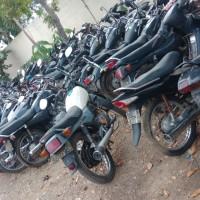 POLRES BLORA: 41 unit sepeda motor dinas Polres Blora dijual 1 paket; berbagai merk & tipe, kondisi rusak berat, BPKB tidak ada