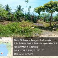 1 bidang tanah luas 1.766 m2,terletak di Kel.Leok II,Kec.Lipunoto,Kab.Buol SHM No.01714 an.Samsudin Ismail Moha (PNM PALU)