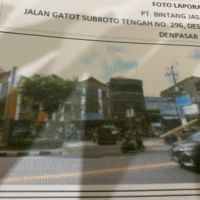 PT.Bank OKE Indonesia,Tbk:1 bidang tanah dengan total luas 166 m2 berikut bangunan di Kota Denpasar