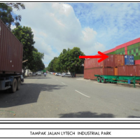 BCA- 3 bidang tanah luas 884 m2 berikut bangunan gudang di Lytech Industrial Park Blok C 1 Nomor 6, 7 dan 8 Batam