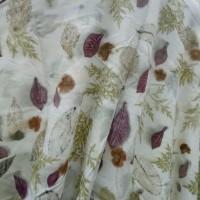 UMKM 4 : Kain Rayon Ecoprint motif daun mix (uk. 150 x 200 cm) di Kota Singkawang