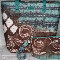 6. 1 Paket Tas Wanita (Tote Bag dan Dompet) Handmade Model Tote Bag dan Dompet Simple chic design Warna Hijau di Kota Banjarmasin