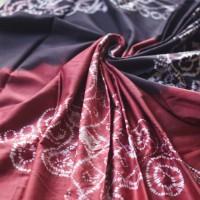 5. Kain Sasirangan Motif Mahkota Sari Gading Kombinasi Warna Merah dan Cokelat ukuran 2 m x 2 m di Kabupaten Banjar