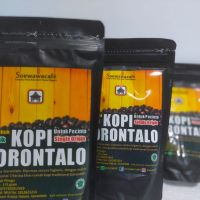 3 (tiga) pcs Suwawa Kopi Gorontalo dalam kemasan Produk Khas Gorontalo (kopi Pinogu-jenis robusta), Berat bersih @175gram, expired tanggal 1