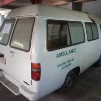 5. PEMDA.M.ENIM-Satu unit kendaraan roda empat, Mitsubishi L.300 Ambulance, Putih, Thn 1992, Rusak, Mesin Mati