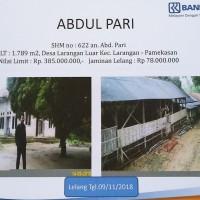 BRI Pamekasan: Tanah seluas 1789 m2 berikut bangunan, terletak di Desa Larangan Luar, Kec. Larangan, Kab. Pamekasan
