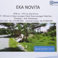 BRI Pamekasan: Tanah seluas  544 m2, terletak di Desa Larangan Tokol, Kec. Tlanakan, Kab. Pamekasan