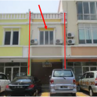 Sebidang tanah bangunan SHGB No. 3876 luas 48 m2 di Ruko Pasar Modern Harapan Indah Blok R No. 17, Pusaka Rakyat, Taruma Jaya, Bekasi