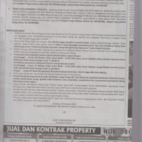 Dijual paket tanah kosong, SHM No. 00366 luas 66m2 dan SHM No. 00360 luas 184m2, di Gianyar-Bali (PANIN)