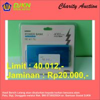 Charity Auction KPKNL Metro (03): Powerbank Miniso 4000 mAh