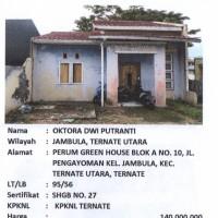 BTN TTE: Sebidang tanah luas 95 m2 berikut bangunan, sesuai SHGB No. 27/Jambula, Ternate