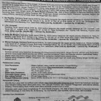 MANDIRI : SHM No. 2043, Lt. 843 m2, Kp. Cipalabuay RT.03 RW.01, Ds. Sumbersari, Kec. Ciparay, Kab. Bandung