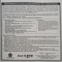Tanah 1.560 m2 berikut bangunan, SHM No.5522/DRANGONG, di Perum. Kavling Delima, Kel. Drangong, Kec. Taktakan, Kota Serang