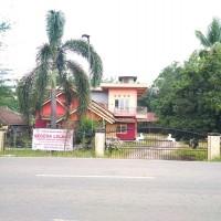 Tanah berikut bangunan, luas 2.000 m2, SHM No. 2150, Jalan Lintas Timur Blok M Desa Dabuk Rejo Kec. Mesuji Kab. OKI
