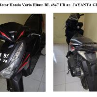 Kejari Gayo 29 - 1 (satu) Unit sepeda motor Honda Vario 125 warna hitam dengan nopol BL 4847 UR