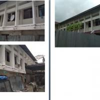 1 (satu) paket Material bongkaran bangunan yang akan dibongkar (bangunan msh berdiri).