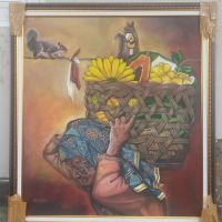 [SENI] 1. 1 (unit) Karya Seni Lukis ; Judul: Malang, Karya : Julion Afdil, Ukuran  : 120 x 100, Media : Acrilic. minyak di atas Canvas