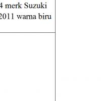 Kejaksaan Kobar Lot 10: 1 unit kendaraan roda 4 merk Suzuki Carry Pick Up Tahun 2011