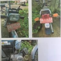 1 (satu) unit sepeda motor Yamaha L2S, warna hitam,tahun 1992,nomor rangka : L2S-L49700, nomor mesin : IEG.015778, nomor polisi : DA 776 E