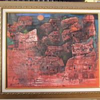 [SENI] 5.1 (unit) Karya Seni Lukis; Judul: Senja Temaram, Karya : Hamzah, Ukuran  : 100 x 80, Media : Acrilic di atas Canvas
