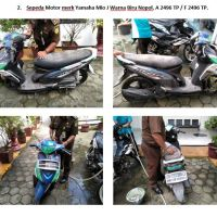Lot 2 : Sepeda motor merk Yamaha Mio J warna biru Nopol. A 2496 TP