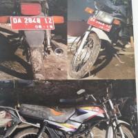 1 (satu) unit sepeda motor  merk Honda type Win (MCB), DA 2848 IZ, thn. 2004, warna Hitam, kondisi Rusak Berat,