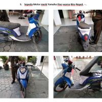 Lot 3 : Sepeda motor merk Yamaha Fino warna biru Nopol. -