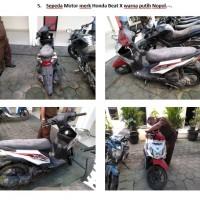 Lot 5 : Sepeda motor Honda Beat X warna putih merah Nopol. -