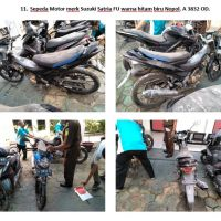 Lot 11 : Sepeda motor merk Suzuki Satria FU warna hitam biru Nopol. A 3832 OD