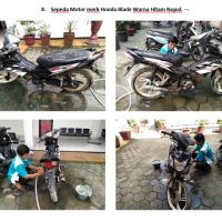 Lot 8 : Sepeda motor Honda Blade warna hitam Nopol. -