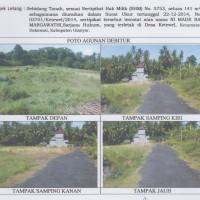 Sebidang tanah, SHM No. 5753, luas 141m2, di Desa Ketewel, Kec. Sukawati, Kab. Gianyar (Panin)